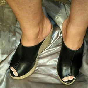 Qupid Women's Slip-On Wedge Sandals, Size 7 1/2